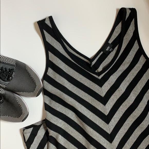 Mossimo Supply Co. Dresses & Skirts - Midi dress, gray and black stripes.